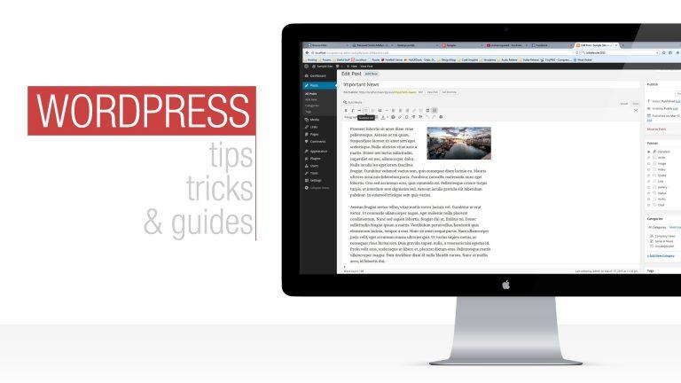 WordPress Tutorial: Working with Posts