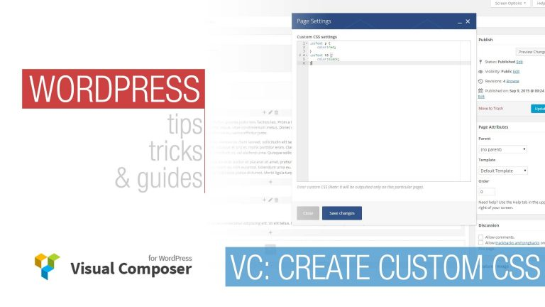 WordPress Tutorial: Visual Composer – Custom Css