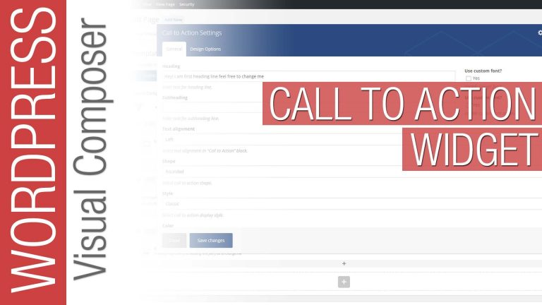 WordPress Tutorial: Visual Composer – Call to Action