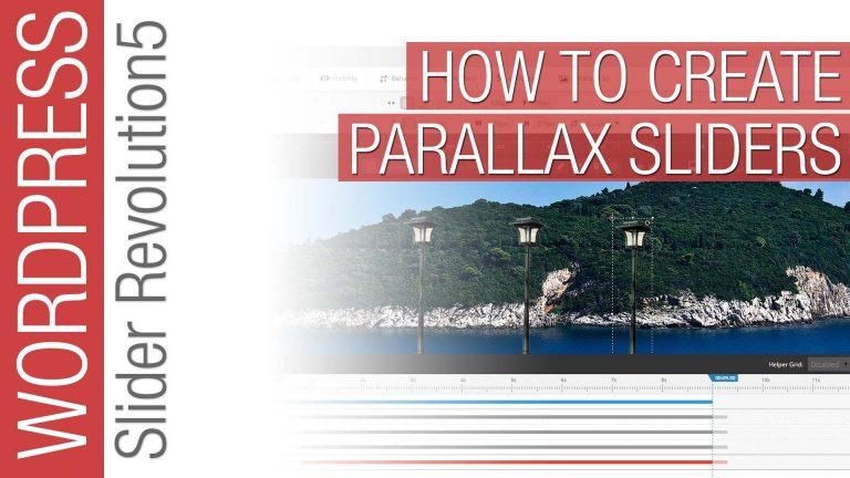 Slider Revolution: Creative Parallax Sliders Tutorial