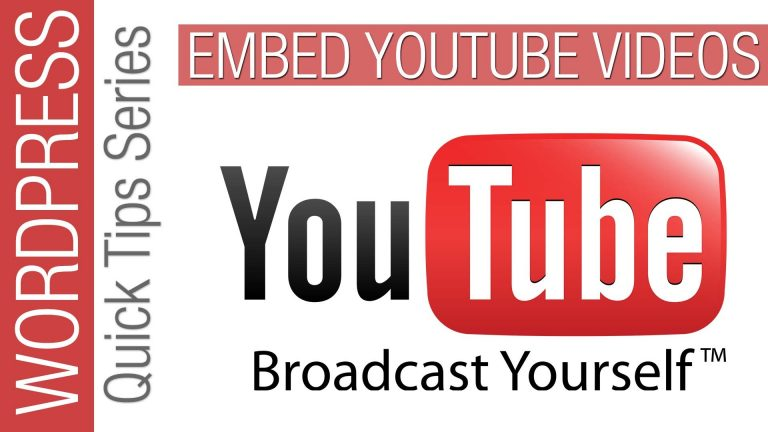 WordPress Quick Tips: Embed YouTube Video