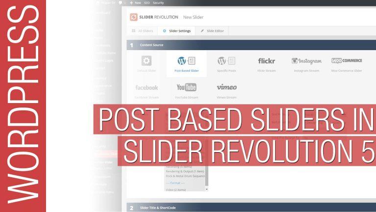 Slider Revolution 5 – Post Based Sliders