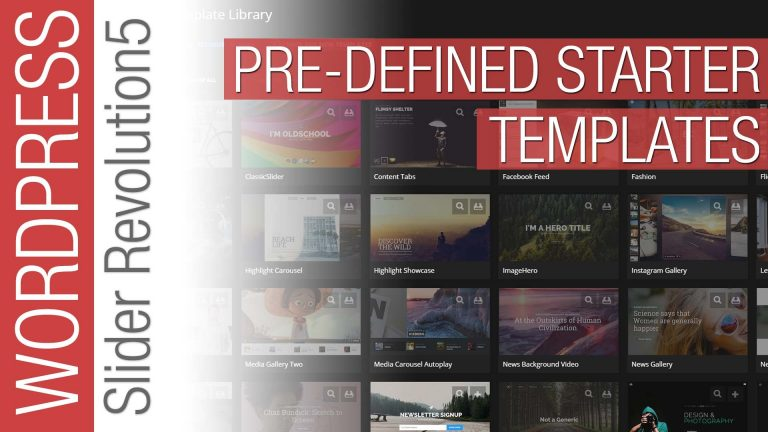 Slider Revolution 5 – Predefined Templates