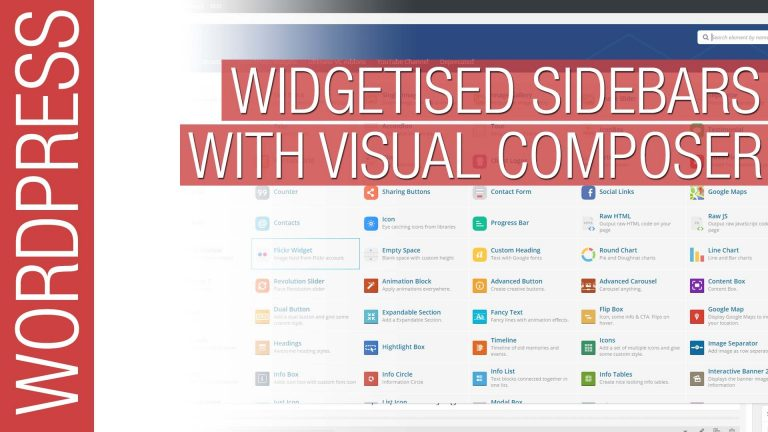 Widgetised Sidebars with Visual Composer