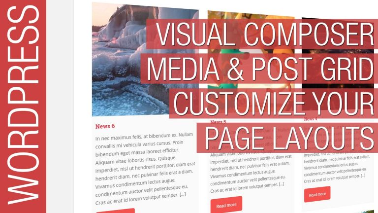 WordPress Visual Composer Media & Post Grid Tutorial