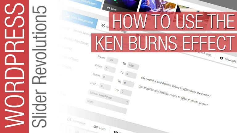 Slider Revolution 5 for WordPress Tutorial – Ken Burns Effect