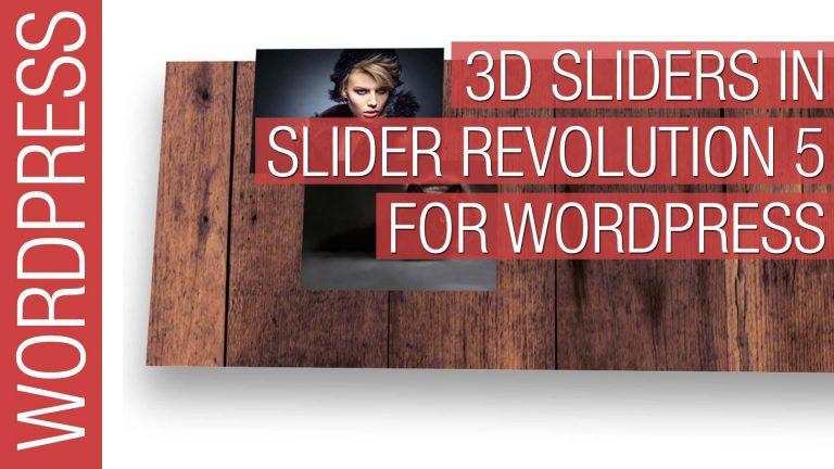 Create 3D Sliders in WordPress Slider Revolution 5 for Beginners 2016