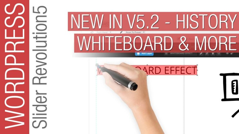 What's New in Slider Revolution 5.2 – Whiteboard Animation, History & More