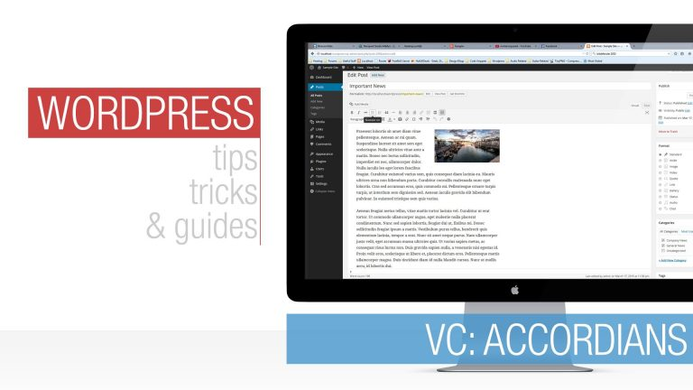 WordPress Tutorial: Visual Composer – Accordion