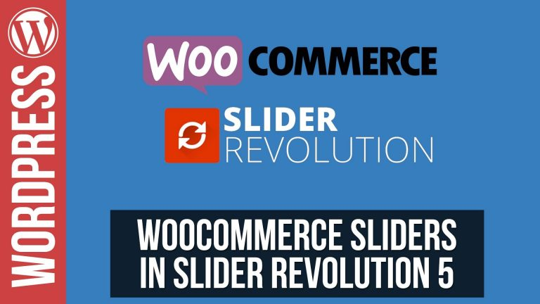 Woocommerce Sliders in Slider Revolution 5 for WordPress