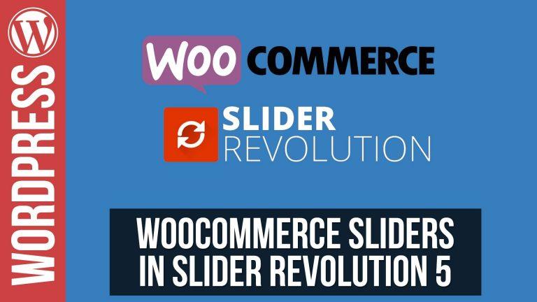 Woocommerce Sliders in Slider Revolution 5 for WordPress