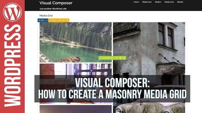 Visual Composer Masonry Grid Element Builder Tutorial