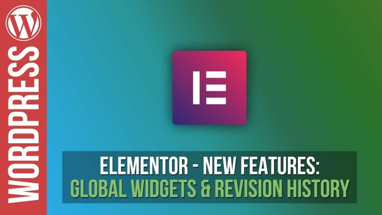 Elementor: Revision History & Global Widgets