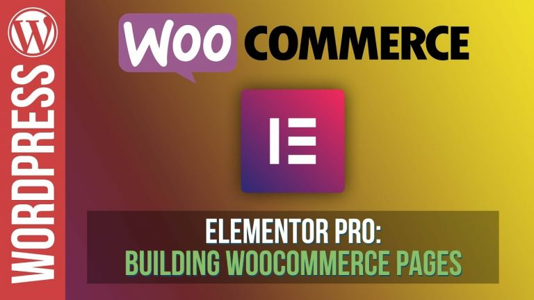 How To Build Amazing Woocommerce Pages with Elementor Pro