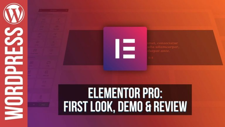 Elementor Pro for WordPress – Review & Demo