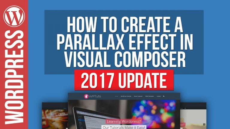 How To Create Parallax Row Backgrounds in Visual Composer for WordPress 2017