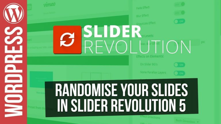 How to Randomize your Slides in Slider Revolution 5