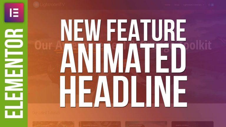 NEW In Elementor: Animated Headlines – Full Tutorial