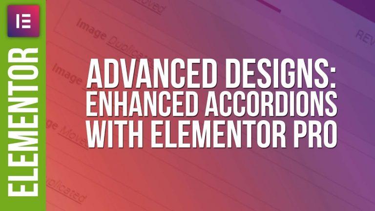 Advanced Accordion Design with Elementor Pro