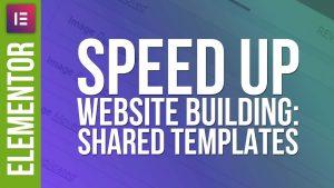Faster Website Design: Shared Templates