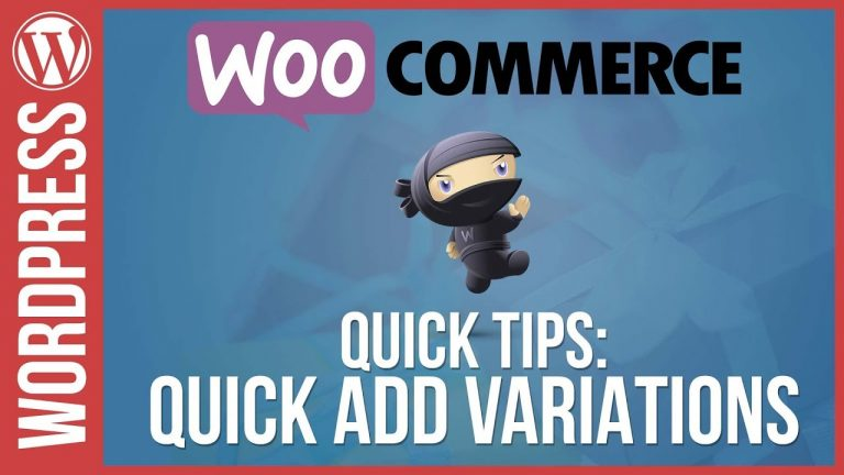 Woocommerce: Quick Variations Quick Tips Tutorial