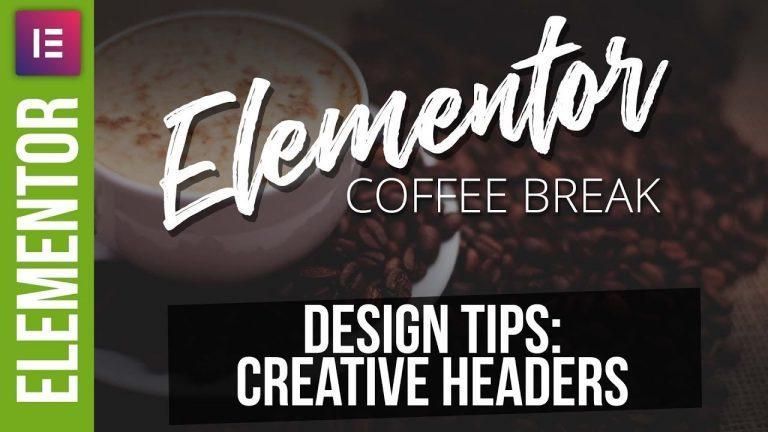 Creative WordPress Headers with Elementor