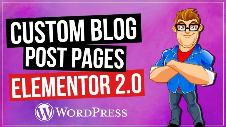Custom WordPress Blog Page with Elementor 2.0