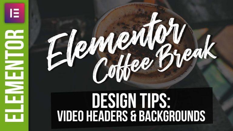 Elementor Video Headers – WordPress Tutorial 2018