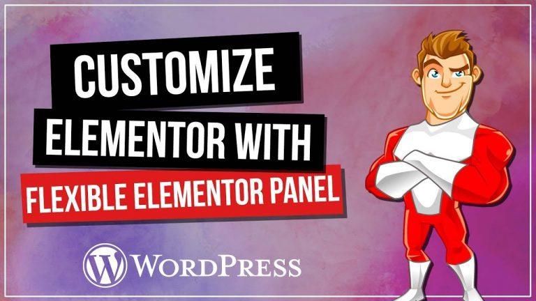 Flexibile ELEMENTOR Panel – Customise Your Interface!