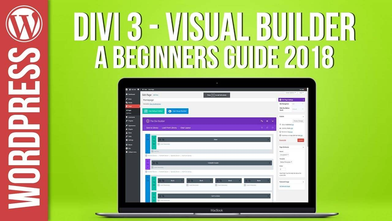 Divi 3 Visual Builder & Theme For WordPress New for 2018 - B