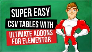 WordPress Tables Plugin – Ultimate Addons for Elementor