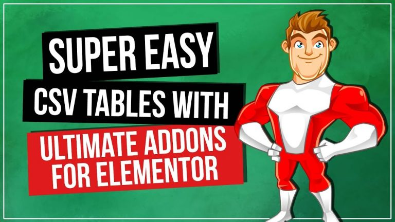 WordPress Tables Plugin – Ultimate Addons for Elementor