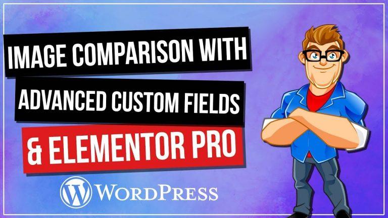 Dynamic WordPress Image Comparison with ACF & Elementor Pro