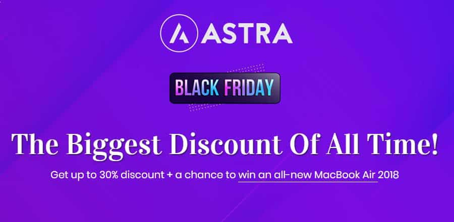Astra Pro Black Friday Discount