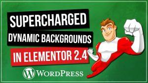 ELEMENTOR 2.4: Dynamic Responsive Background Images