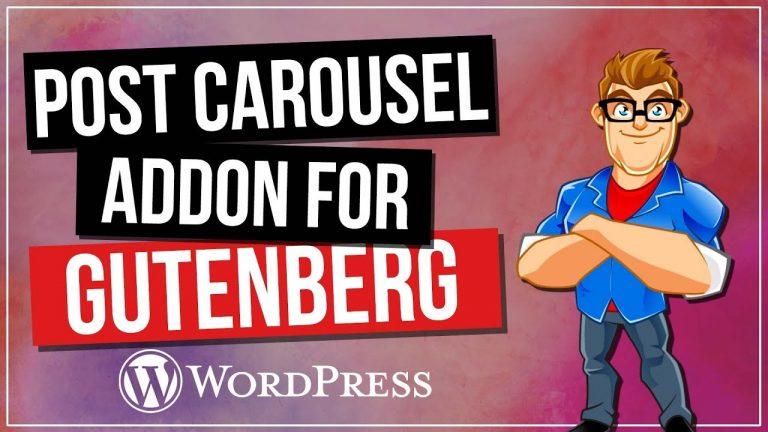 WordPress Carousel – Post Carousel for Gutenberg