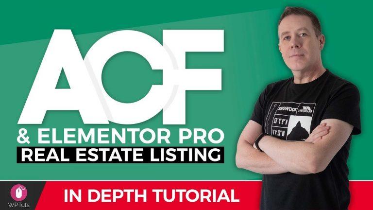 Advanced Custom Fields Pro & Elementor Pro – Real Estate Website