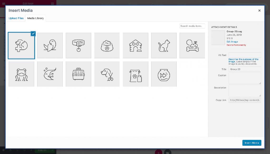Upload & Preview SVG Images Elementor 2.6