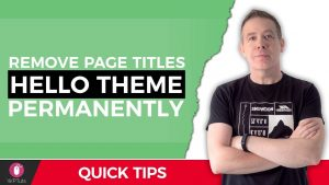 How To Remove The Elementor Hello Theme Page Title