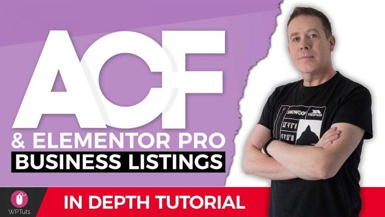 Advanced Custom Fields Pro & Elementor Pro – Business Listing Website