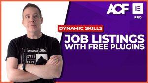 Elementor Pro + FREE plugins = Custom Job Listings (ACF & more)