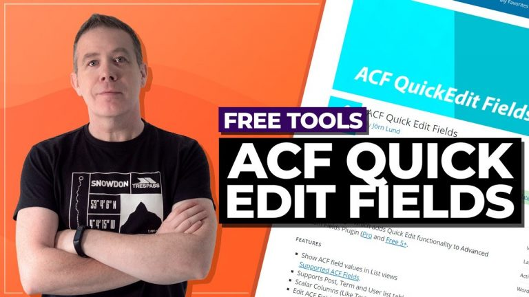 ACF Freebies – ACF Quick Edit Fields