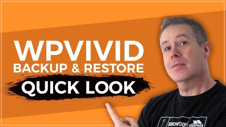 WordPress Backup And Restore with WPVivid for FREE